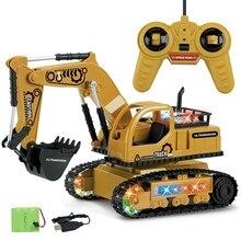Пульт дистанционного управления Строительный автомобиль экскаватор игрушечный бульдозер 4-канальный телеуправляемый инженерный автомобиль RC игрушки подарки для детей