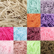 10g per bag DIY Paper Raffia Shredded Paper Confetti Gift Box Filling Material Christmas Wedding Marriage Home Decoration 62456(China)