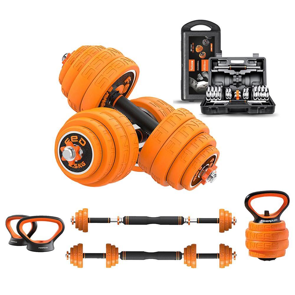 Einstellbar Hantel Set Kettlebell Gewichte Fitness Ausrüstung für Männer Barbell