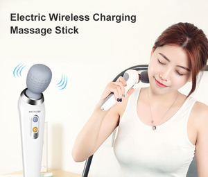 Image 3 - ST 806 Wireless Charging body multi function massage stick powerful mini portable Vibration massager Health Pain Relief Shoulder