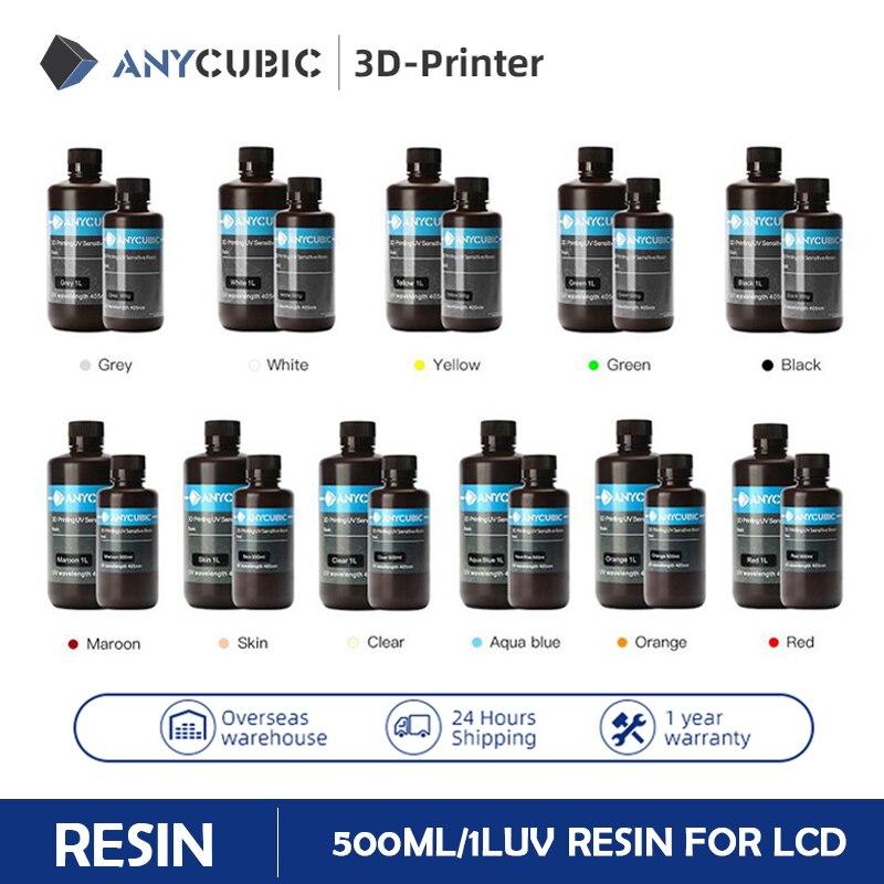 ANYCUBIC 3D-принтеры Смола универсальная 405nm для Фотон S быстрого отверждения объект соглашения о качестве предоставляемых услуг УФ смола для ЖК-...