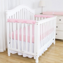 Cradle Pad-Decoration Protection-Strap Cushioning-Cot Newborn Breathable Bed Cotton