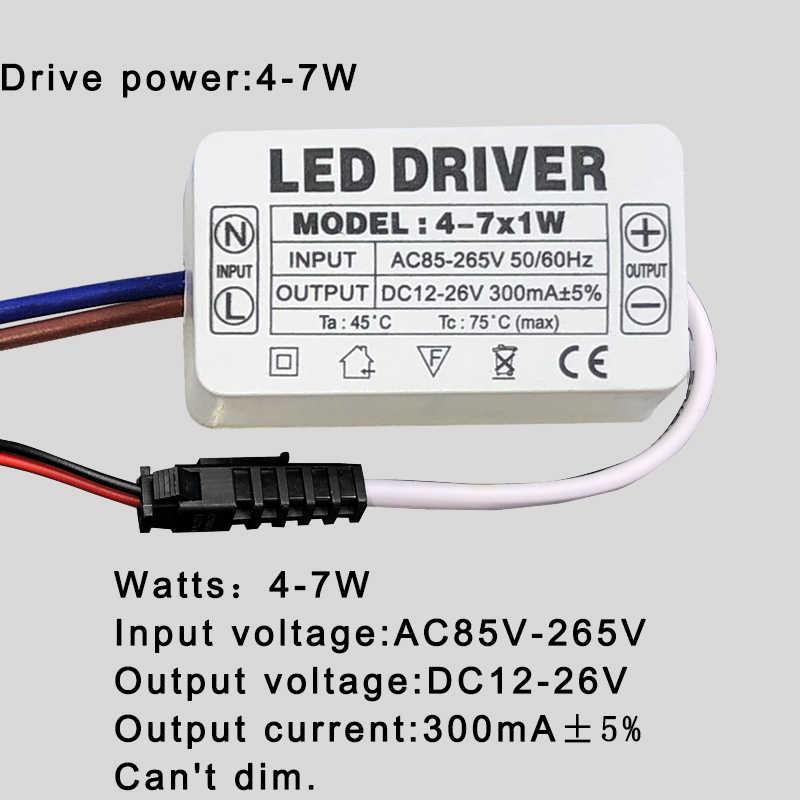 LED Driver 300mA 1W 3W 5W 7W 12W 18W 20W 25W 36W Voor LEDs Voeding Unit AC85-265V Verlichting Transformers Voor LED Power Lights