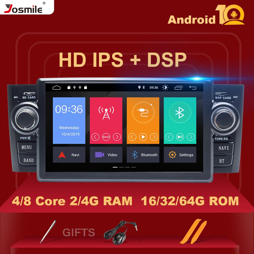 IPS DSP Autoradio1 Din Android 10 Car Stereo Multimedia Player For Fiat Grande Punto Linea 2007-2012GPS Navigation DVD 8Core 4GB