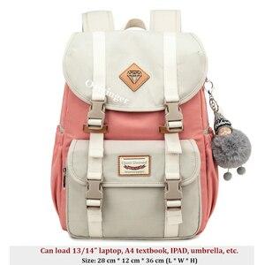 Image 2 - Mädchen Jugend Mode Rucksack Für Teenager Mädchen Rucksäcke Student Kinder Tasche Frauen Campus Laptop Rucksäcke Junior Schule Taschen
