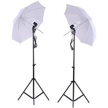 Em cz es fr it photo studio iluminação kit conjunto 2*2m suporte de luz + 2*33