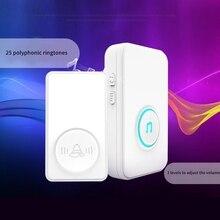 Self-Generated Wireless Doorbell, Smart Home Doorbell, 433.92MHZ Frequency, Long-Distance Wall Caller(EU Plug)
