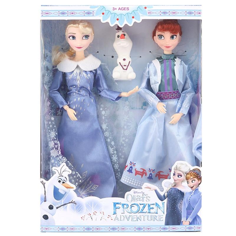 30 CM Frozen 2 Elsa,Anna,Olaf Princess collection figura de acción Hot Toys modelo muñecas Navidad Año nuevo regalo para niños
