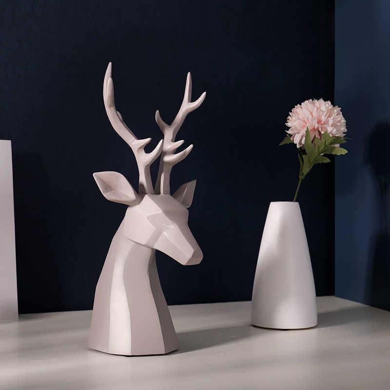 家の装飾アクセサリー鹿置物樹脂オフィス家庭菜園の机の装飾リビングルームのベッドルームの友人ギフト