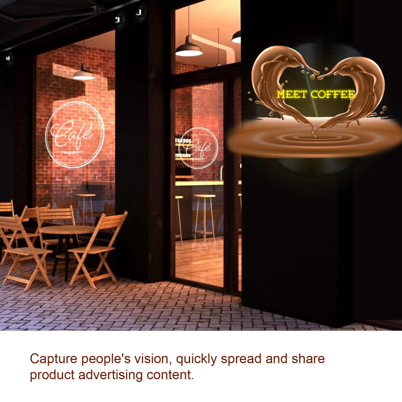 3D Proiettore Ologramma di Visualizzazione di Pubblicità Fan A3 Foto Video Aria Olografica Giocatore della Macchina di Controllo Remoto Staffa 16GB Carta di TF