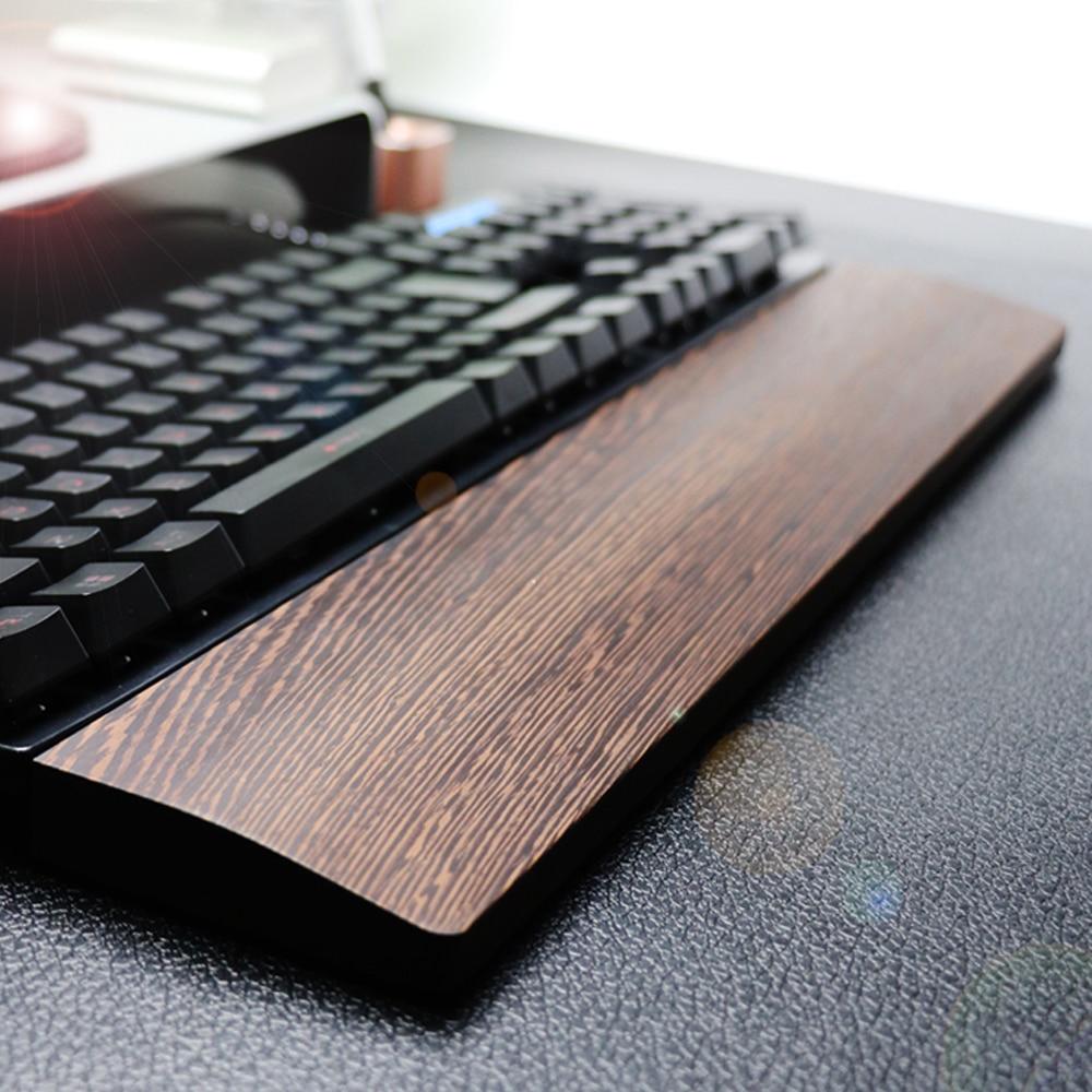 Walnut Wooden Keyboard Wrist Rest With Anti-Slip Mat Ergonomic Mechanical Gaming Desk Wrist Pad Support 60 87 104 Keys