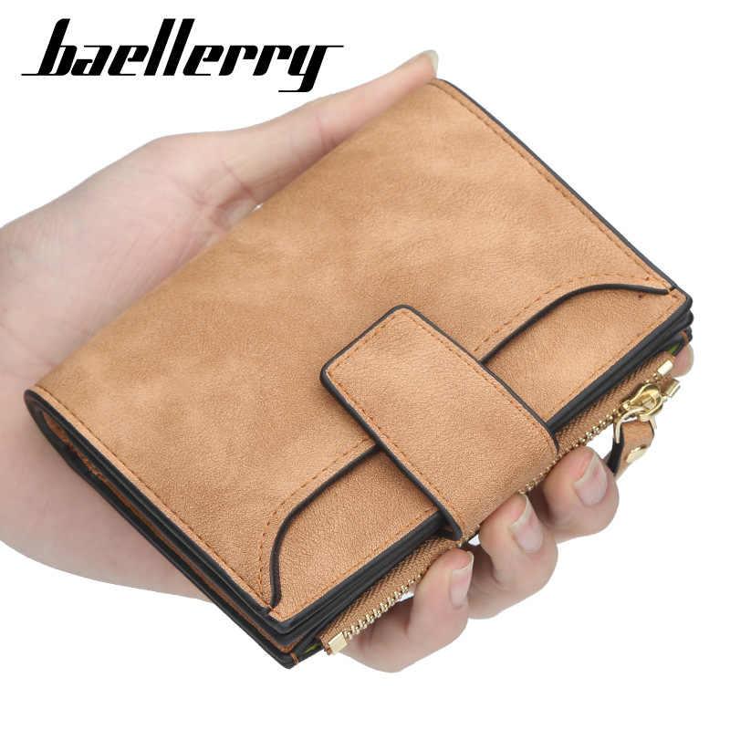 2020 Baellery กระเป๋าสตางค์หนังผู้หญิง Hasp ขนาดเล็กและ Slim กระเป๋าเหรียญผู้หญิงกระเป๋าสตางค์ผู้หญิงกระเป๋าสตางค์กระเป๋าสตางค์ผู้ถือบัตรแบรนด์หรูกระเป๋าสตางค์