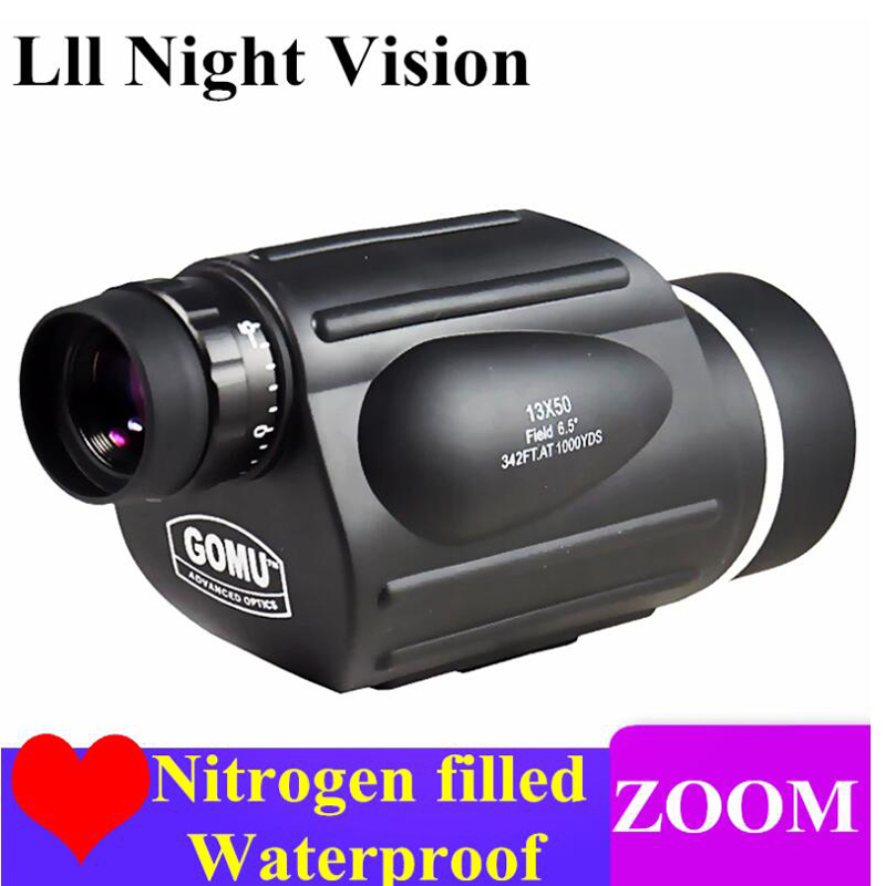 High Power HD Telescope Monocular 10-30X50 Zoom Bird Watching Waterproof Binoculars Lll Night Vision High Quality For Hunting