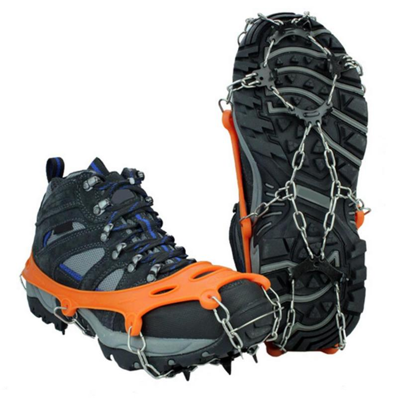 1 Pair Ice Claw Delicate Design Outdoor Ice Snow 8 Teeth Shoe Spiked Grip Cleat Crampons Anti Slip Shoe Covers New Arrival
