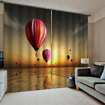 lake curtain  Luxury Blackout 3D Window Curtains For Living Room Bedroom Customized size sunset curtains