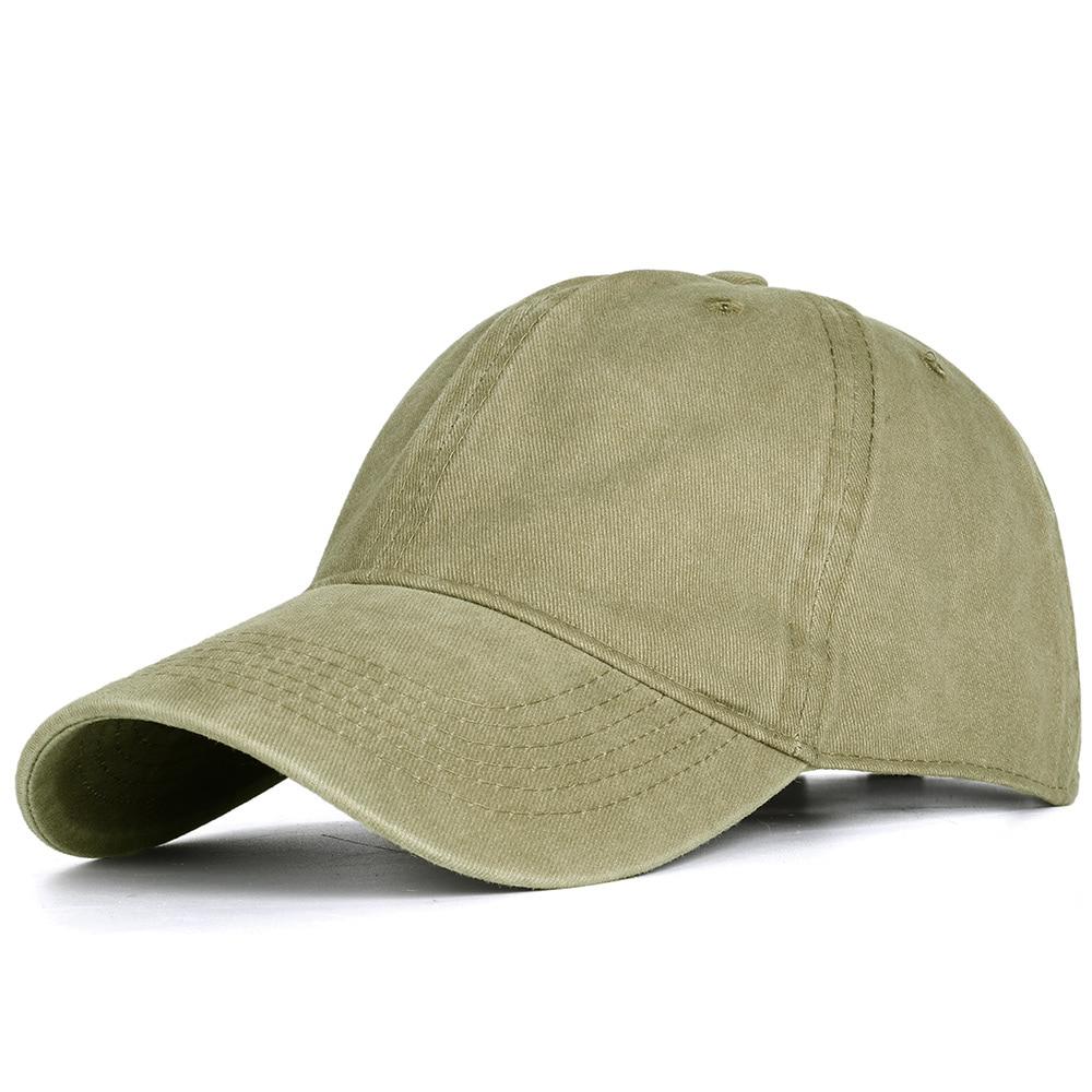 2020 High Quality Men Washed Cotton Baseball Cap Women Vintage Snapback Hat Adjustable Trucker Outdoor Caps Black Dad Hat Bone 13