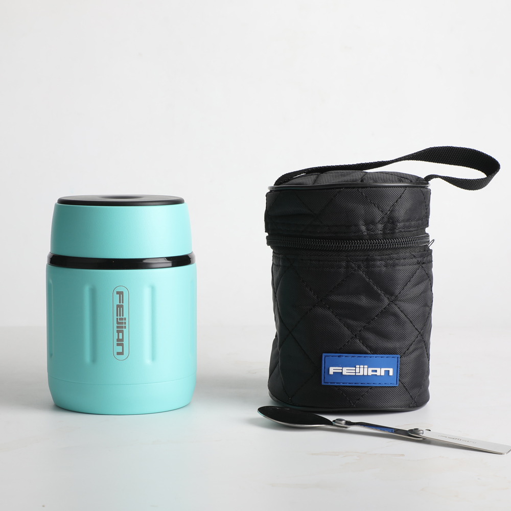FEIJIAN Food Thermos, Food Jar, Business Portable Thermos Boxes, Insulated Lunch Box, 500ML, Stainless Steel Container 3