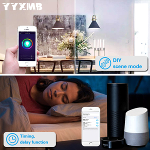 Image 5 - Lampada a LED Smart tuya WiFi E14 lampadina a candela supporto ECHO/Google Home/IFTTT telecomando vocale Smart RGBCW Led Light