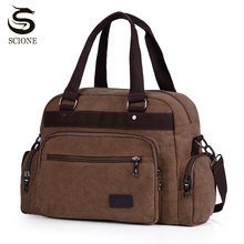Handbags Tote Luggage Duffle-Bag Canvas Business Large-Capacity High-Quality New Male