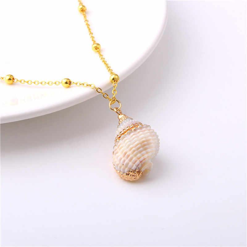 2020 אופנה Boho שרשרת קונכיית ים חוף פגז תליון שרשרת לנשים Shell Cowrie קיץ תכשיטי מתנה בוהמי