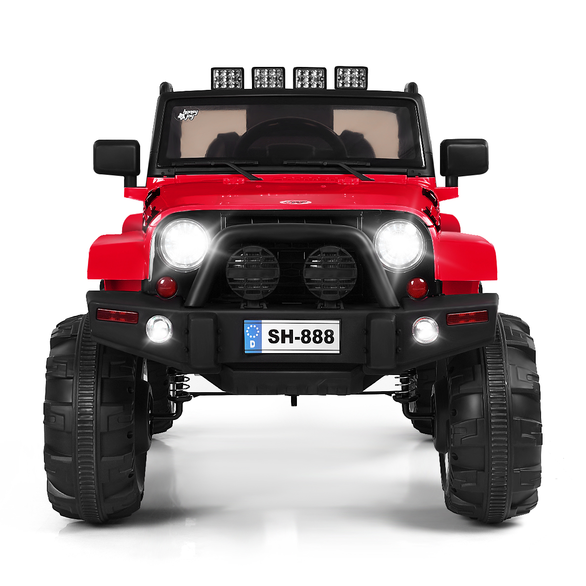 12V Electric Kids Ride-On Car Toy Truck w/MP3 LED Lights Bluetooth Control Gifts