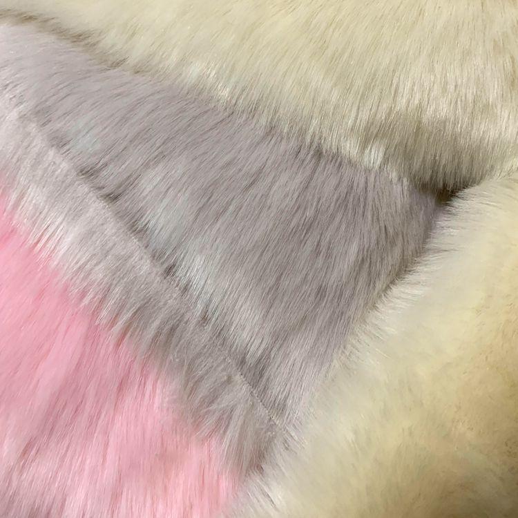 Мягкий лисий мех ткань одежда нагрудник шаль игрушка Искусственный Мягкий мех ткань оптовая продажа - 3