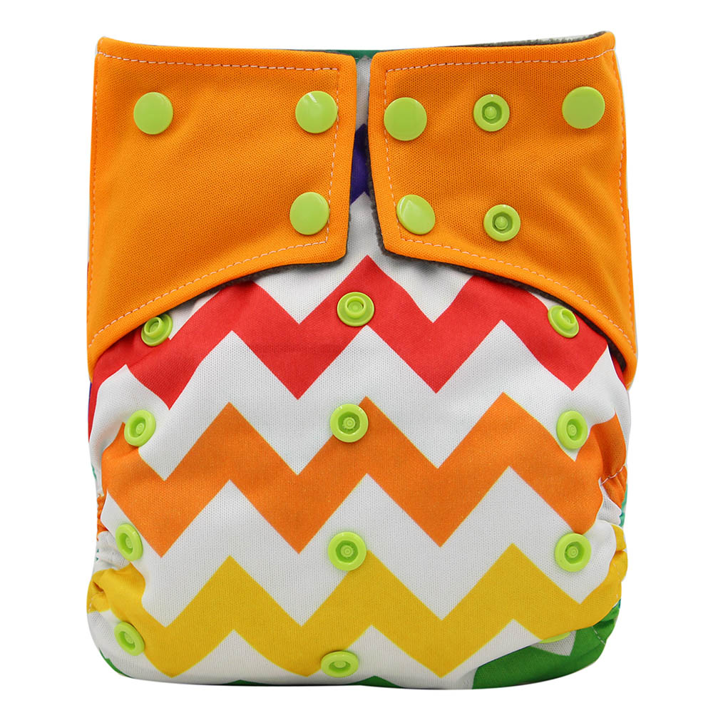 Ohbabyka Waterproof Baby Diaper Cover Newborn Infant AI2 Pocket Cloth Diapers Reusable Baby Nappies Bamboo Potty Training Pants