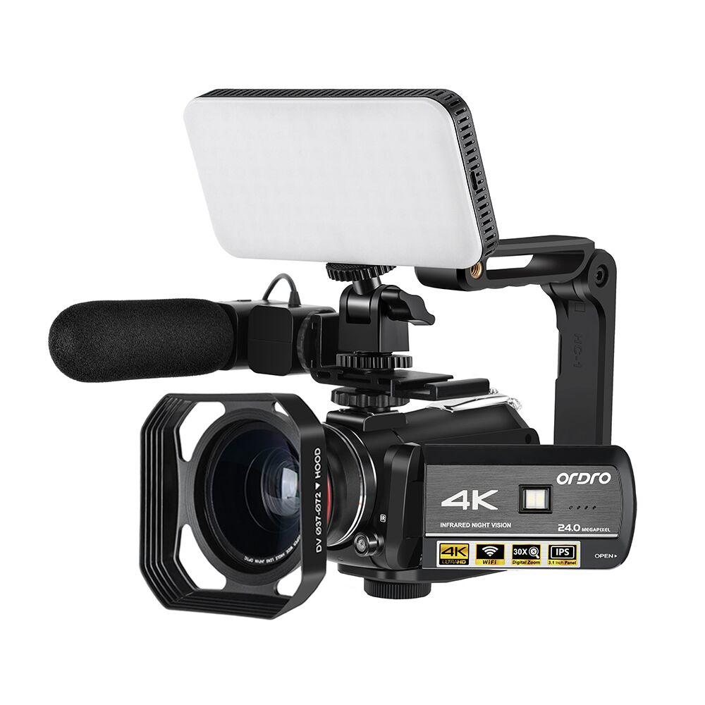 ORDRO AC3 4K Video Camera Camcorder 30X Digital Zoom IR Night Vision WiFi Filmadora Vlogging Camera for YouTube Videos