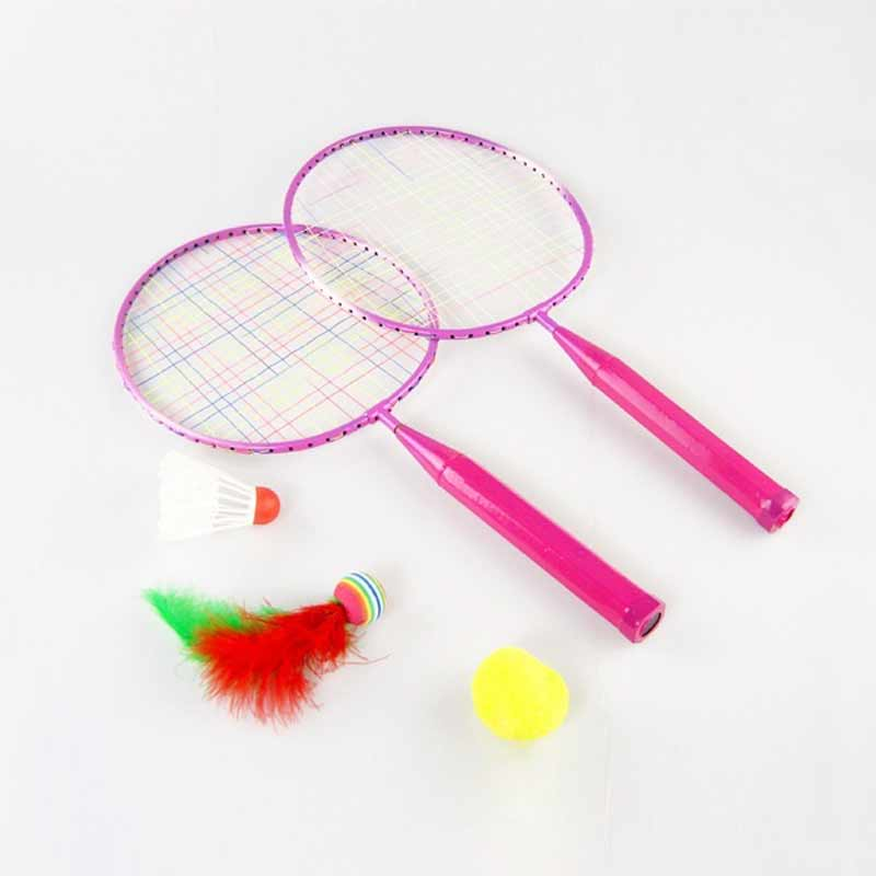 New 1 Pair Youth Children's Badminton Rackets Sports Cartoon Suit Toy For Children  Drop Shipping