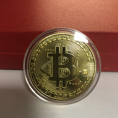 2020 Gold Plated Bitcoin Coin Collectible Art Collection Gift Physical commemorative Casascius Bit BTC Metal Antique Imitation-2