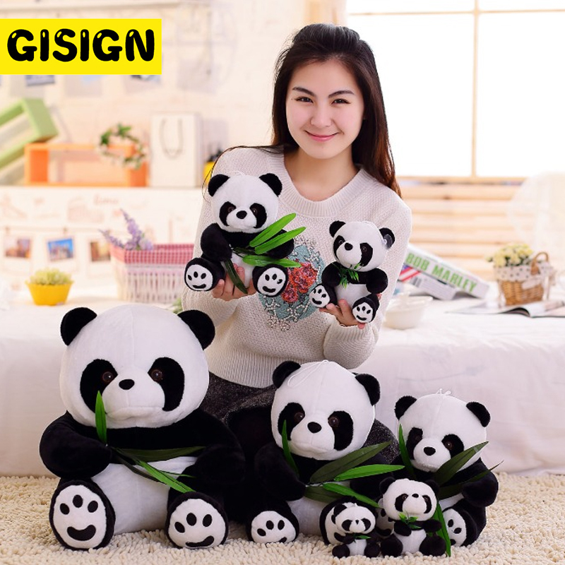 9-20cm Cute Panda Plush Stuffed Toy Hug Bamboo Bear Pillow Cartoon Animal Pendant Birthday Christmas Baby Funny Doll Kids Gift