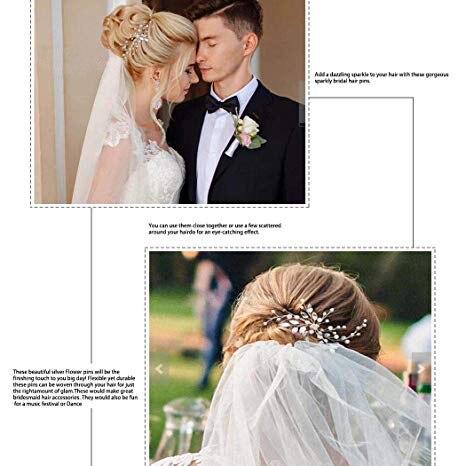 YouLaPan HP103-1 wedding hair accessories pearl bride headband pearl wedding headpieces for bride Bridal pins wedding clips 2