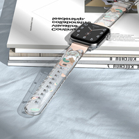 Transparente correa de reloj Apple watch Banda 6 44mm 40mm iWatch banda 38mm 42mm pulsera de las mujeres Apple watch Serie 3 4 5 6 SE