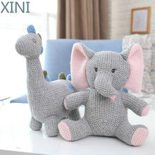 Xini Макарон Цвет ins популярная вязаная единороги слон кролик