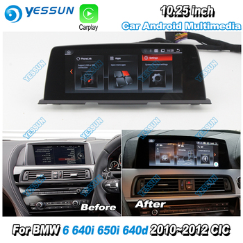 Car Radio Audio Video Stereo For BMW 6 650i 640d 640i 2010 2011 2012 CIC Car GPS Navigation HD Screen Android Multimedia Player