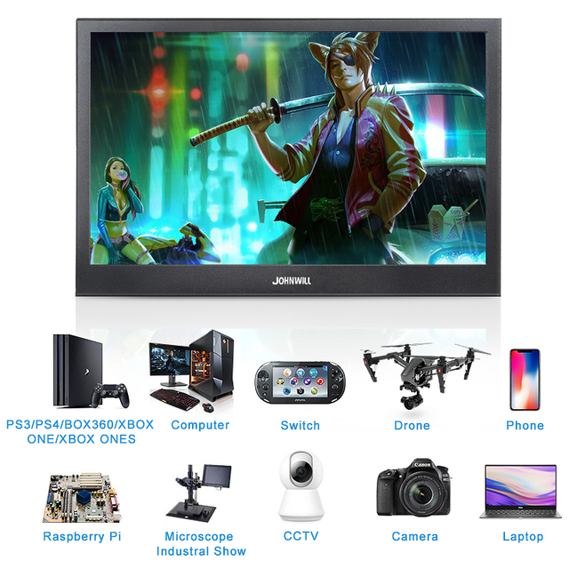 Portable Monitor hdmi touch screen 13.3 inch 2K PC PS4 Xbox 360 1080P IPS HD LCD LED Display for Raspberry Pi switch laptop 3
