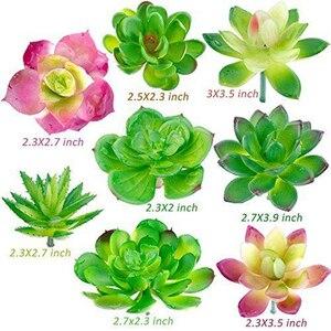 Image 3 - Confezione da 24 piante grasse artificiali pianta da giardino miniatura falso Cactus floreale fai da te casa succulente finte piante finte succulente finte