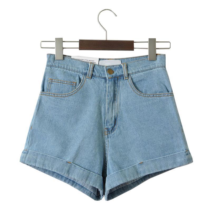 High Waist Denim Shorts For Women Vintage Sexy Brand Shorts Jeans Womens Denim Shorts Feminino Slim Hip Plus Size