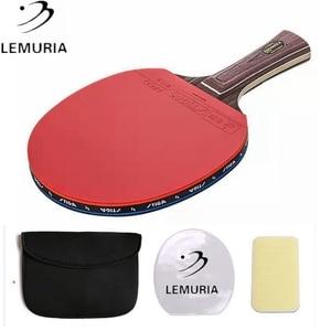 Профессиональная деревянная ракетка для настольного тенниса ebony face с прыщами в настольном теннисе резиновая Классическая 7-слойная чистая деревянная ракетка для пинг понга