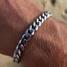 2020 New Trendy Cuban Chain Men Bracelet Classic Stainless Steel 3/5/7mm Width Chain Bracelet For Men Women Jewelry Gift