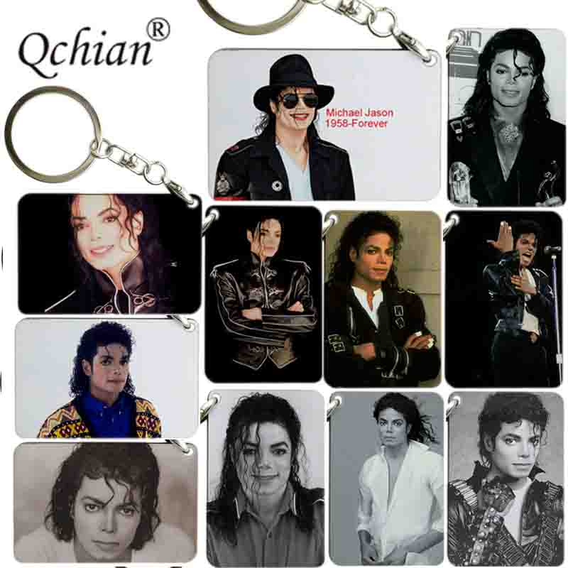 Dancing Michael Jackson King of POP keychain key ring portachiavi llaveros men women Boys fashion jewelry key chains Fans gift image