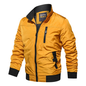 Image 5 - LBL Autumn Military Bomber Jacket Men Slim Fit 2020 Winter Casual Mens Jacket Solid Outwear Zipper Coat Man Tracksuit Windproof
