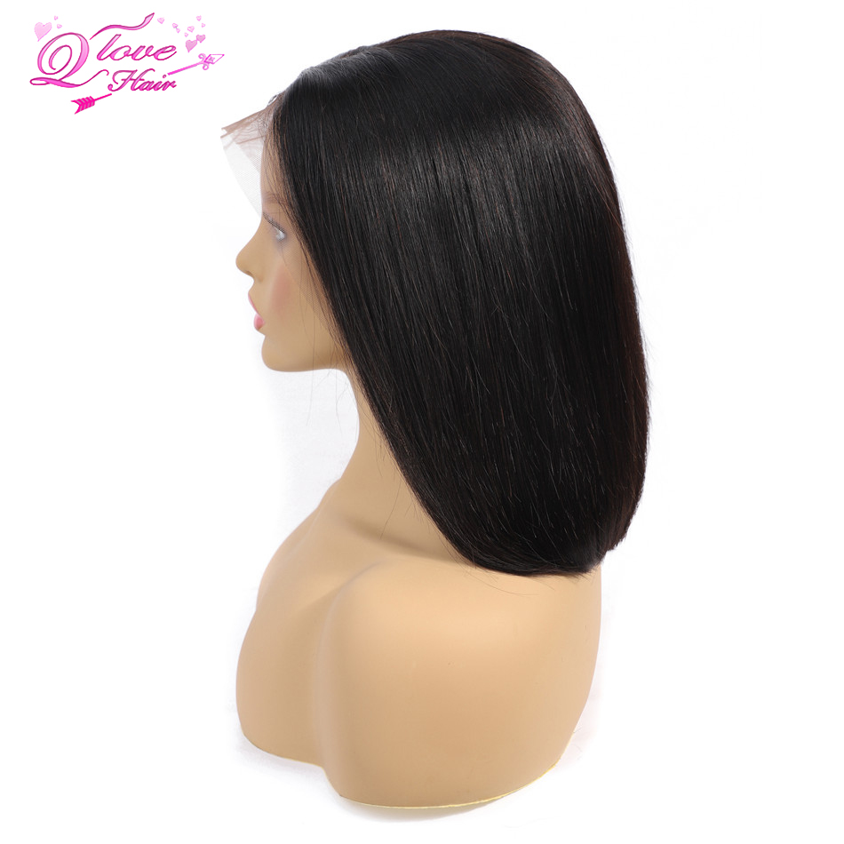 Straight Lace Front Wigs Short Bob Wig Brazilian Remy Hair Transparent Lace Wigs For Women 150% Density 13x4 Human Hair Lace Wig