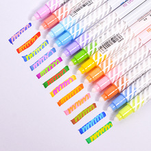 12pcs Variable Color Drawing Pen Set Discolored Highlighter Marker Pens Scrapbooking Art Supplies Stationery School F6809