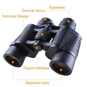 High Power HD Professional Binoculars 80x80 10000M Hunting Telescope Optical LLL Night Vision for Hiking Travel High Clarity 6