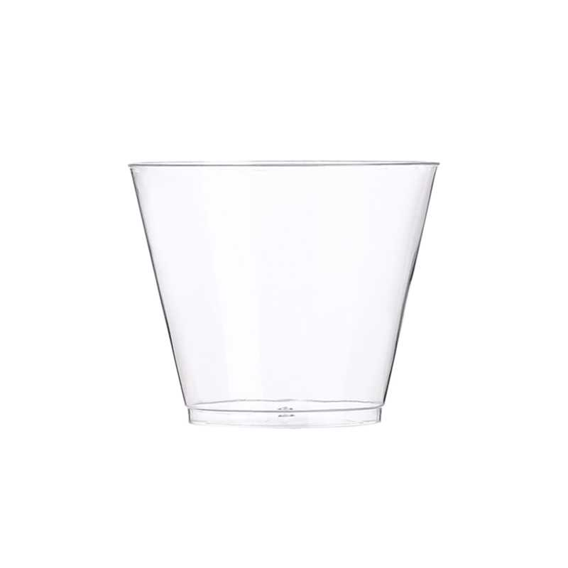 9 once Tazza di Plastica Trasparente 50 Set di Usa E Getta Tazza Duro di Plastica Bicchieri Da Vino Da Cocktail Del Partito di Vetro Tazza di Plastica di Grandi Dimensioni Del Partito