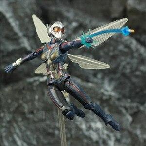 "Image 1 - ハチ 6 ""アクションフィギュアantman 2 アリ男と継続を女性ナディアkoのshf endgame伝説復讐おもちゃ人形"