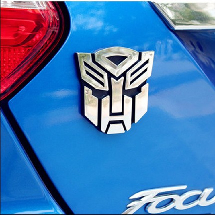 3D Metal Sticker Autobot Logo Transformers Badge Trim Car Body Trunk Badge Decoration Accessories