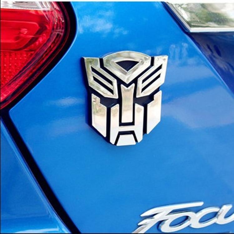 3D Metal Sticker Autobot Logo Transformers Badge Trim Car Body Trunk Emblem Decoration Accessories