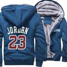 Hoodies masculinos 23 jaqueta grossa 2019 camisolas de inverno raglan homens streetwear casaco grosso jaqueta hip hop hoodies harajuku